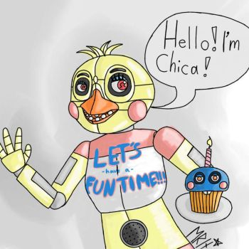 Little Funtime Chica Drawing by Meritaz
