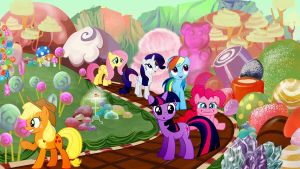 Mane 6 In Candyland by Mr-Kennedy92