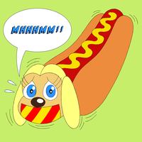 Brandy Harrington is a hot dog by Hypercat-Z