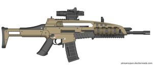 Black Ops 2 M8A1 (Final Version, Hybrid Optic) by Scarlighter