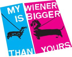 My Wiener is Bigger Than Yours by mylkhead