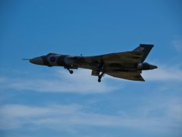 Vulcan raising gear Duxford by davepphotographer