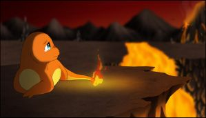 Charmander 004 :Pokemon Challenge: by Fates-Exile