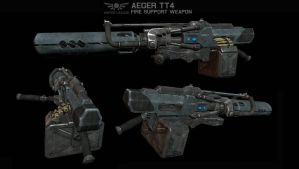ULA Aeger TT4 Machine Gun by AStepIntoOblivion