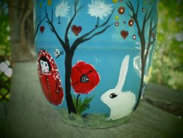 Russian Doll and Whimsical Forest - White rabbit by InkyDreamz