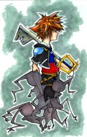 KH2 Sora n Heartless by b-kitten