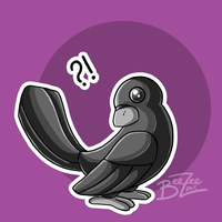 ?! Crow Illustration by BeeZee-Art