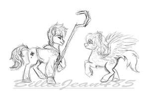 Jack Frost and Angel MLP by BillieJean485