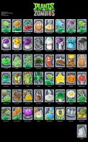 Plants vs Zombies - All Plants - ATC by Merinid-DE