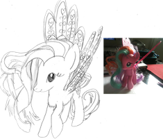 Pony To Drawing #1 - Ploomette by cadpig1099