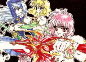 Magic Knight Rayearth fan art by bakero-ichiban