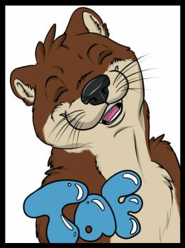 Taf Otter badge by Draazy by Taffybear