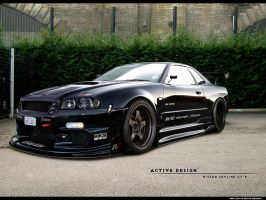 Nissan Skyline GT-R by Active-Design