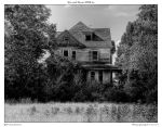 Haunted House HDR bw by yellowcaseartist