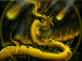 Golden dragon by Zyraxea