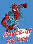 Spider-Up or die t-shirt by Vic-Neko