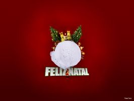 Feliz Natal Wallpaper by thiagotasca