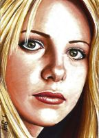 Buffy Summers Sketch Card by Dr-Horrible