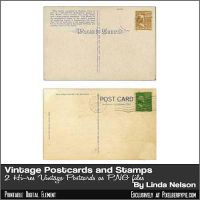 Vintage Paper Postcards with Vintage Stamps by pixelberrypie