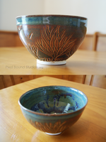 Bronze Tree Themed Ceramic Bowl by pixelboundstudios