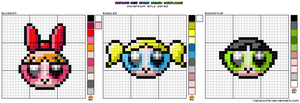 Powerpuff XStitch Template by rainbowrei