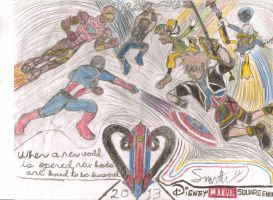 Kingdom Hearts vs The Avengers by AntiachusTheWarlock