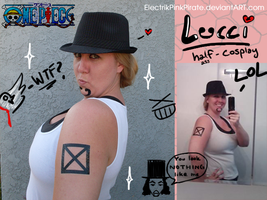 Lucci half-ass cosplay XD by ElectrikPinkPirate