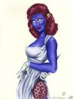 Mystique Vintage Pin-Up by MrLively