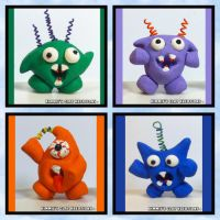 KOOKY MONSTERS - THE CUTE SIDE OF SCARY by KIMMIESCLAYKREATIONS
