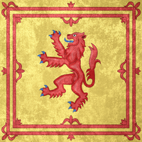 Kingdom of Scotland ~ Grunge Flag (1222 - 1707) by Undevicesimus