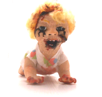 The possessed baby Abigail! (on etsy: MINIATURE) by pompoentje666