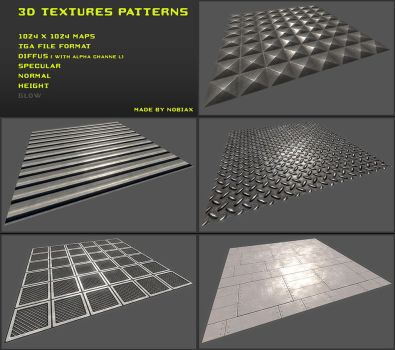 Free 3D textures pack 07 by Nobiax