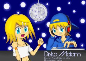 Kagamine Rin Len - Disko Malam (Disco Night) by irzhie