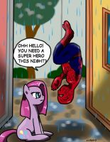 Spidey and pinkamena by CIRILIKO