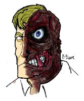 Wacom Test: Harvey Two-Face by Kmadden2004