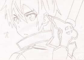Kirito Kun(Without Color) by GiannisXD55
