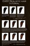 Easy realistic hair tutorial by RaSen