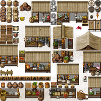 tileset Vx Ace street market by ombrouge