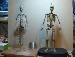 Armature scale comparison. by Leebea
