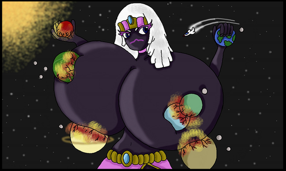 Planet sized Queen! by WorldofSolgamia