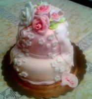 cute folwers cake by rosecake