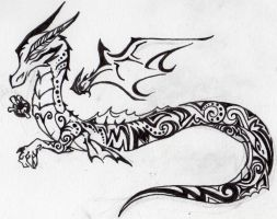 Inked - Tattoo Dragon by Red-Red-Panda