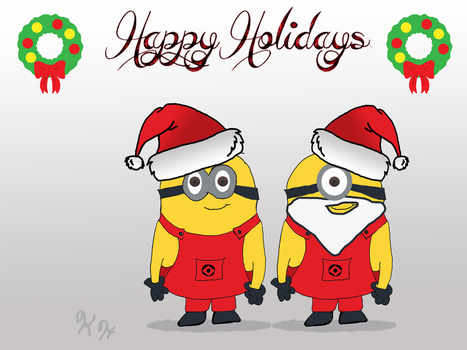 Minion Christmas by minty42