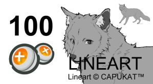 Canine Lineart A14 by Capukat