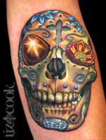 Sugar Skull by LizCookTattoo