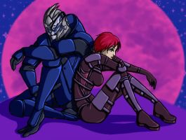 Garrus and Shepard by B6L6U6E