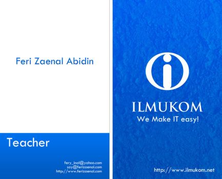 my bussiness card by ferizaenal