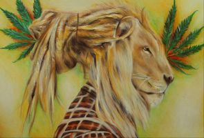 Rasta lion by ahsr