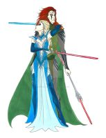 Starrim: Frozen Rebels Sith Elsa and Morokei by LadyoftheGeneral