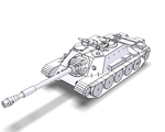 Su-122-54 1:50 B/W and Textured by Raven-Al